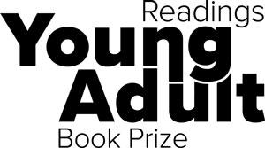 Black text reads 'Readings Young Adult Book Prize'